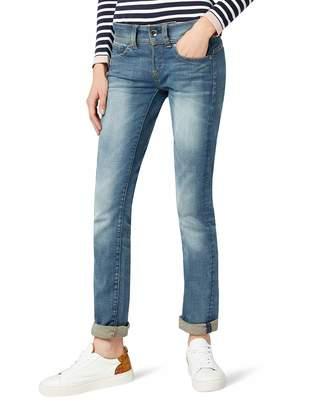 G Star Raw Women's Midge Saddle Mid Rise Straight Leg Jean in Maidu Stretch