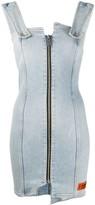 Heron Preston zip detail denim dress