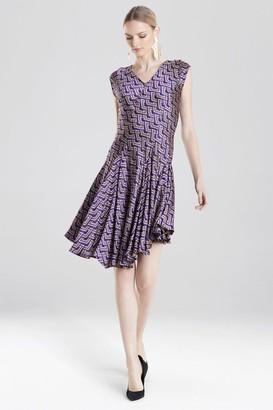 Natori Deco Diamond Jacquard Dress
