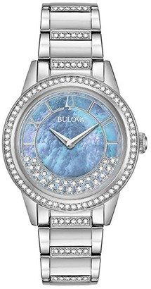 Bulova Women's Turnstyle Crystal Accent Watch, 32.5mm