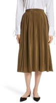 Robert Rodriguez Women's Pleated Silk Skirt
