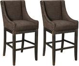 Signature Design by Ashley Moriann Upholstered Set of 2 Barstools