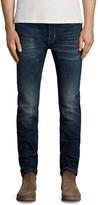 AllSaints Ichinoh Rex Slim Fit Jeans in Mid Indigo Blue