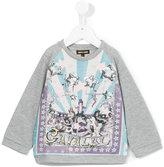 Roberto Cavalli circus print sweatshirt - kids - Cotton/Viscose/Polyamide/Spandex/Elastane - 24 mth