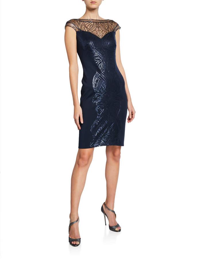 a2b4ce508bd3 Tadashi Shoji Illusion Neckline Dresses - ShopStyle