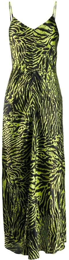 Ganni animal print maxi dress