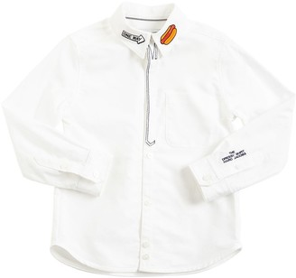 Little Marc Jacobs Embroidered Cotton Oxford Shirt