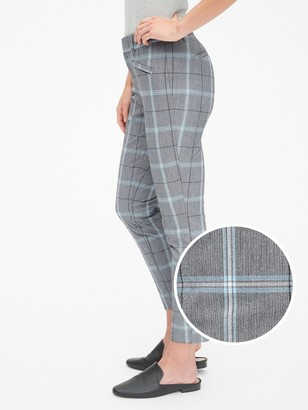 Gap Plaid Curvy Skinny Ankle Pants