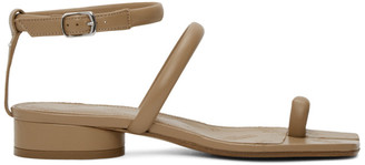 Maison Margiela Beige Ankle Strap Tabi Sandals