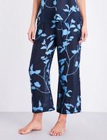 Skin Floral-print voile pyjama bottoms