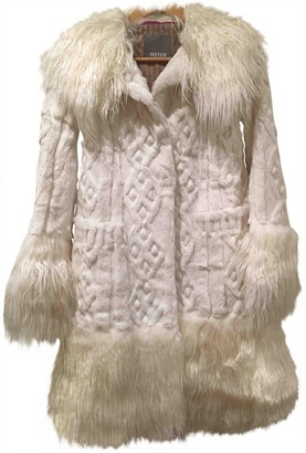 Meteo White Rabbit Coat for Women