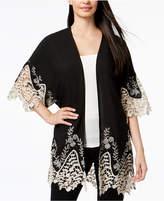 Cejon Lace-Trim Kimono Poncho