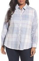 Foxcroft Plus Size Women's Winter Plaid Cotton Shirt