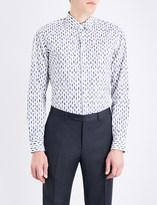 Salvatore Ferragamo Walking men-pattern tailored-fit cotton shirt