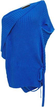 Roland Mouret Moran Off-the-shoulder Ribbed Cotton Sweater