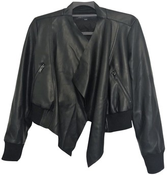 French Connection Black Leather Jacket for Women