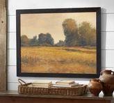 Pottery Barn Bronze & Gold Landscape Framed Canvas by Don Bishop