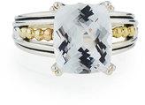 Lagos Prism Cushion-Cut White Topaz Ring, Size 7