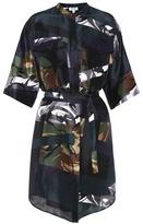 Kenzo Broken Camo' camouflage-printed silk dress