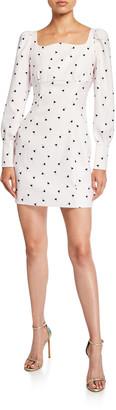 Mestiza New York Katrina Printed Long-Sleeve Mini Dress