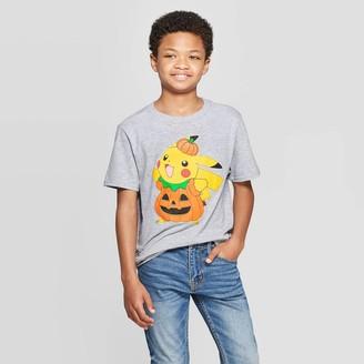 Pokemon Boys' Pikachu Halloween Short Sleeve T-Shirt - Heather