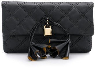Marc Jacobs Sofia Loves padlock detail clutch bag