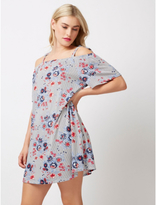 George Floral Stripes Tie Shoulder Dress