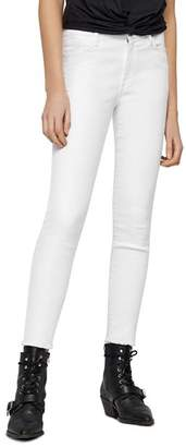 AllSaints Grace Ankle-Length Frayed Jeans