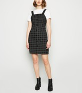 New Look Check Button Front Pinafore Dress