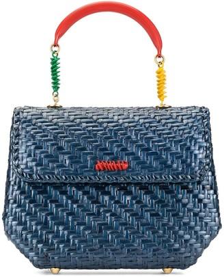 Fendi Pre-Owned woven twisted details handbag