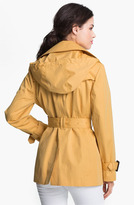 London Fog Short Trench Coat with Detachable Hood