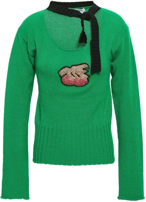 Philosophy di Lorenzo Serafini Pussy-bow Appliqued Cashmere Sweater