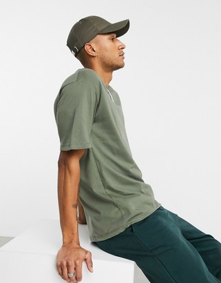 Jack and Jones Originals oversized t-shirt in khaki
