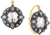 Freida Rothman Round Embellished Two-Tone Earrings
