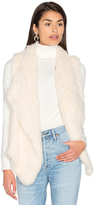 525 America Drape Front Rabbit Fur Vest