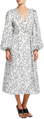 Stine Goya Bernard Abstract Printed Midi Dress