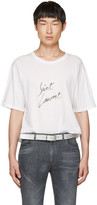 Saint Laurent White Signature Logo T-Shirt