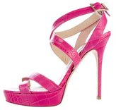 Jimmy Choo Alligator Platform Sandals
