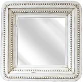 SAGEBROOK HOME White Daisy Square Wooden Mirror