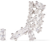 Kenneth Jay Lane Silver-plated Cubic Zirconia Earrings - one size