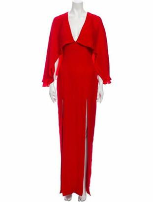 HANEY Silk Long Dress Red