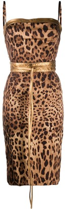 Dolce & Gabbana Fitted Leopard-Print Dress