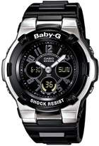 Casio Women's Baby-G BGA110-1B2C Black Resin Quartz Watch with Black Dial