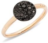 Pomellato Sabbia Black Diamond & 18K Rose Gold Small Ring