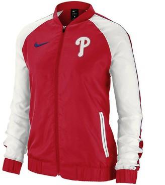 Nike Women's Red Philadelphia Phillies Varsity Full-Zip Jacket