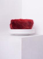 Missy Empire Delia Red Faux Fur Headband