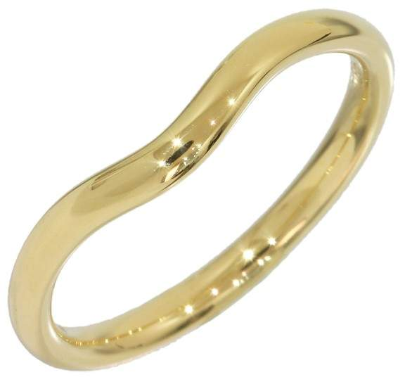 Tiffany & Co. Elsa Peretti 18K Yellow Gold Curved Band Ring Size 5.75