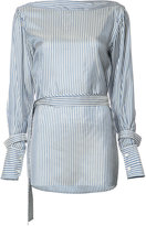 Calvin Klein striped belted blouse