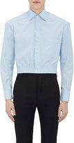 Balenciaga Men's Embroidered Poplin Crop Shirt