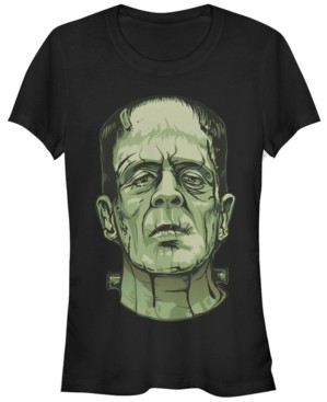 Fifth Sun Universal Monsters Women's Frankenstein Big Face Short Sleeve Tee Shirt